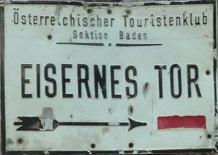 Hoher Lindkogel - Eisernes Tor
